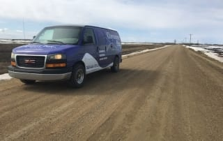 We travel across Alberta from corner to corner and we are not scared of the gravel or mud to service our customers.